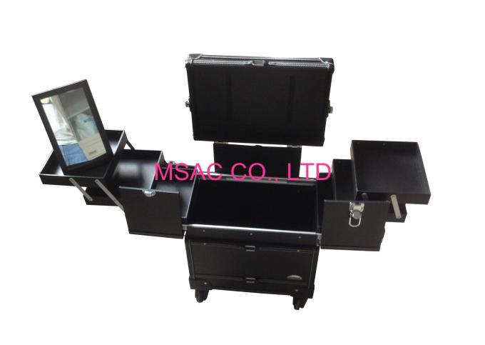 ... lightirror makeup black makeup box hair cut cases pro makeup case leather makeup trolley case with ...