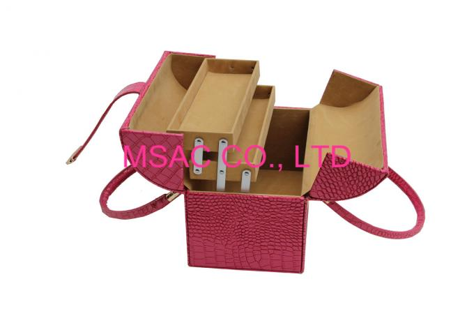 2015 Hot Sale Red Leather Beauty Case