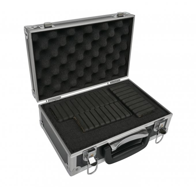 Light Weight Small Aluminum Tool Case Black ABS Material And Aluminum Frame
