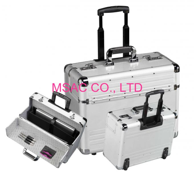 Light Weight Aluminum Attache Case Lockable 5 kgs Wear Resistant For Travel