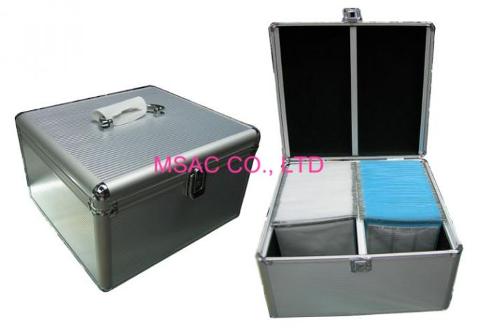 Light Weight Aluminum DVD Storage Case 3mm MDF And Silver ABS Panel