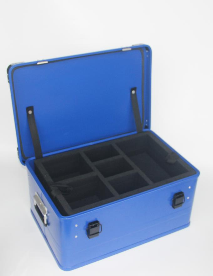 Customized Painting Aluminum Storage Case With 1.0mm Thickness Aluminum Panel In Blue Color