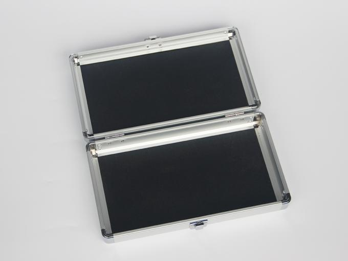 Silver Small Aluminum Hard Case With 180 Degree Open Easy Transport
