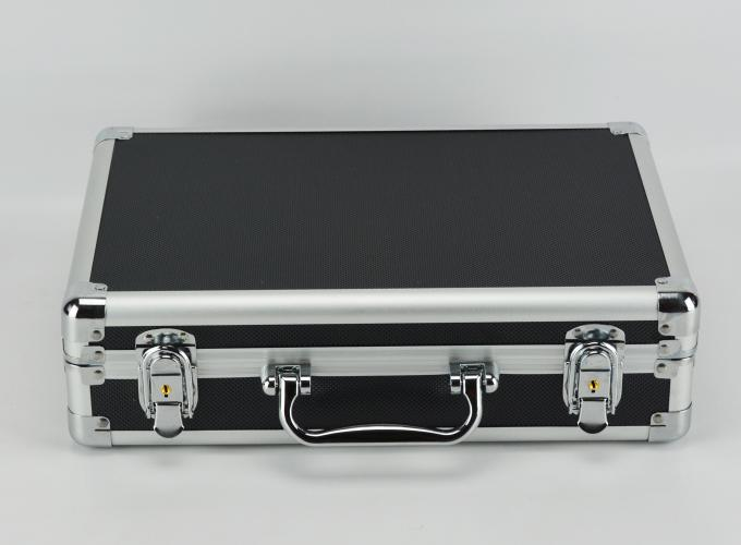 Black Professional Aluminum Tool Case For Carrying Tool Separated Lining