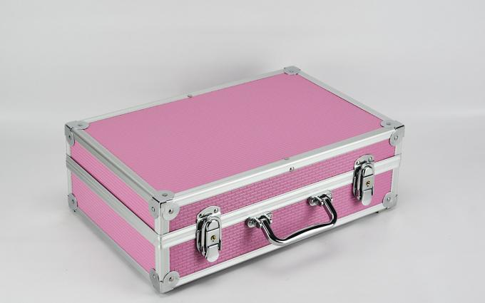 Custom Pink Aluminum Hard Carrying Case For Electronic Cable Tools Size 360 * 240 * 100mm
