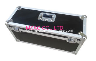 China Black Custom Aluminum Flight Cases / Equipment Carrying Case for Carry Tool supplier
