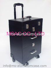 China professional makeup trolley case beauty cosmetics bags pu makeup case with wheels supplier