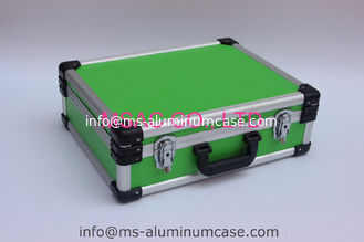 China Blue Aluminum Tool Case With Dividers And Tool Panel For Carrying Tools supplier