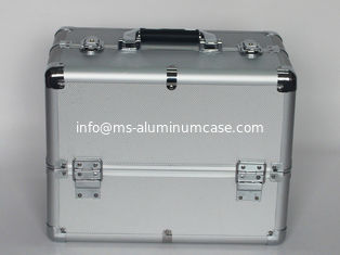 China Aluminum Cosmetics Cases Silver diamond ABS Panel supplier