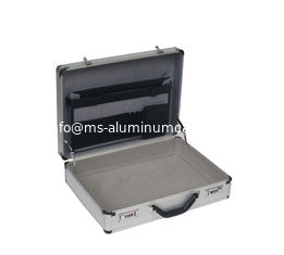 China Silver Aluminum ABS Diamound Breif Attache Case With Pick and Pluck Foam Inside For Carry Documents Or Tools supplier