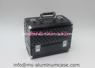 China Black Aluminium Beauty Case With Two Locks L 260 X W 150 X H 160mm Moistureproof supplier