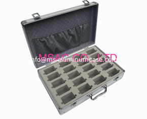 China Durable Small Aluminum Tool Case , 90 Degree Open Aluminum Case With Foam supplier