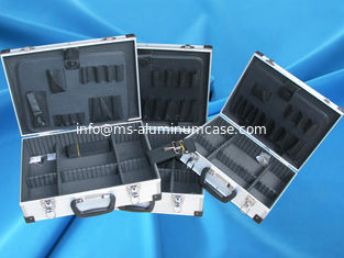China Lockable Aluminum Tool Case 3mm MDF With ABS Panel 90 Degree Open supplier
