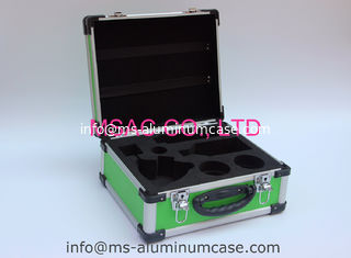 China Green Aluminum Hard Case With Die Cut EVA Inside For Medical Accessories supplier