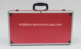 China Red Aluminum Carrying Case , Light Weight Aluminium Hard Case With Foam supplier