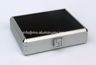 China Light Weight Small Silver Aluminum Cases With Transparent Arylic Panel For Packing Tools supplier