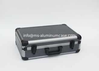 China 2.2 kgs Gray Aluminum Hard Case With Striped Panel And Die Cut Modeled Inside supplier