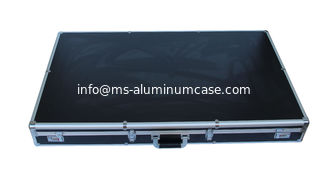 China Black Large Aluminum Hard Case For Carrying Equipment Round Corner Design supplier