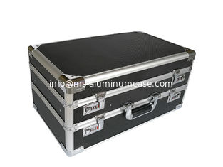 China Double Opened Aluminum Hard Case With Black Diamond Panel supplier