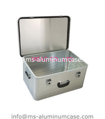 China Custom Lockable Aluminum Hard Case Silver Middle Size 1.2 Kgs Wear Resistant supplier