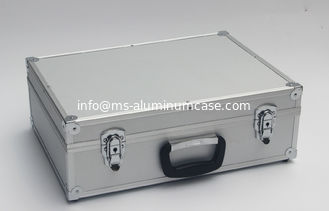China Silver Aluminum Tool Case With Inside Pick And Pluck Foam supplier