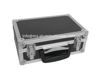 China Light Weight Small Aluminum Tool Case Black ABS Material And Aluminum Frame supplier