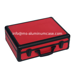 China Red Aluminum Tool Case With PU Leather  Display And Packing Tools Light Weight supplier