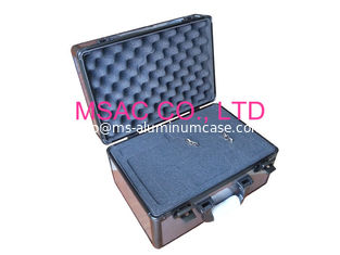 China Gray Travel Aluminum Carrying Case 3mm MDF And 1mm PC Panel One Lock For Security supplier