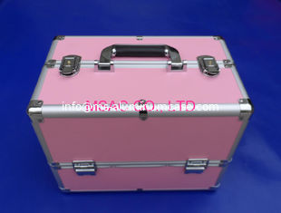 China Competitive Prive Pink Aluminum Makeup Nail Case China Aluminum Case Manufacturer,Factory supplier