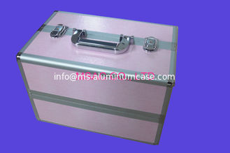 China Aluminum Cosmetic Cases/ Cosmetic Train Cases/Beauty Cases/Leather Cosmetic Cases supplier