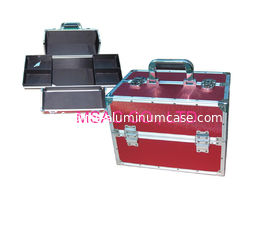 China Waterproof Aluminum Makeup Vanity Case , Makeup Carrying Case With Two Locks supplier