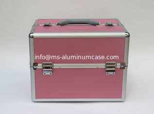 China ABS Aluminium Cosmetic Case Box Velvet Lining Size L 260 X W 220 X H 240mm supplier