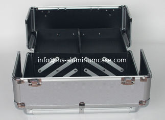 Custom Large Aluminium Vanity Case , Lockable Aluminum Makeup Case