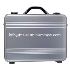 China Lockable Silver Aluminum Attache Case Fabric Lining 410 X 300 X 88mm supplier