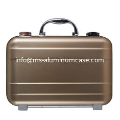 China Rose Golden Aluminium Attache Case , Portable Small Aluminum Briefcase supplier