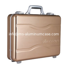 China Molded Alloy Aluminum Notebook Carrying Case Golden One Lock For Security supplier