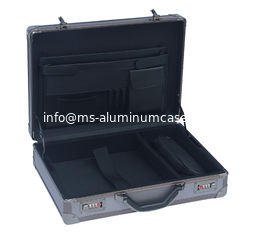 China Professional Grey Aluminum Attache Case Embossed Diamond Surface 460 * 330 * 135mm supplier