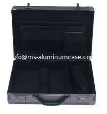 Multi - Purpose  Black Aluminium Briefcase , Pilot Aluminum Attache Briefcase supplier