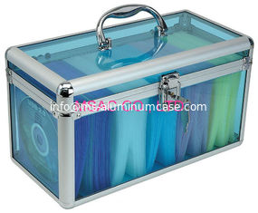 China Big Space Aluminum DVD Storage Case 1.8mm Thickness Acrylic Panel Easy Cleaning supplier