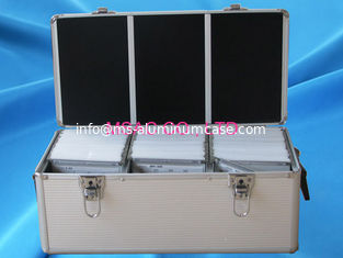 China Multi - Purpose Aluminum DVD Storage Case 3mm MDF With Silver ABS Panel supplier