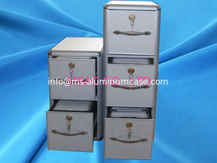 China Aluminium CD DVD Storage Box , Light Weight Aluminum Hard CD Case With Drawers supplier