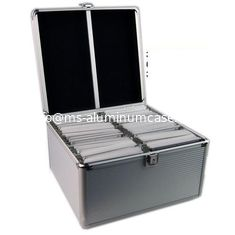 China Light Weight Aluminum DVD Storage Case 3mm MDF And Silver ABS Panel supplier