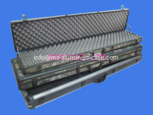China Black Aluminum Hard Rifle Case , Army Gun Carrying Case For Packing Guns supplier