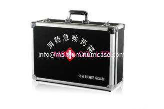 China Medical Devices Aluminum Medical Box , Metal First Aid Kit For Cars / Home supplier