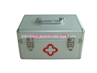 China Emergency Medical Metal First Aid Box , Aluminum Medical Case With Two Locks supplier