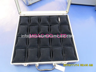 China 20 Pcs Aluminum Watch Display Case , Acrylic Watch Storage Box MS-Wat-06 supplier