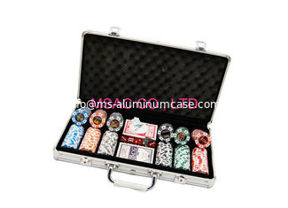 China 300 Pcs Aluminum Chip Case / Counter Carrying Cases Size L389 X W200 X H69mm supplier
