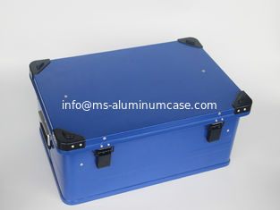 China Customized Painting Aluminum Storage Case With 1.0mm Thickness Aluminum Panel In Blue Color supplier