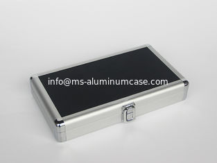China Silver Small Aluminum Hard Case With 180 Degree Open Easy Transport supplier