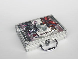 China Silver Aluminum Hand Carrying Case With CMYK Printing 260 * 200 * 80mm Light Weight supplier
